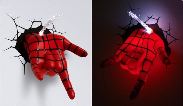 Decorate walls of your kid s room with cool 3D Marvel superhero nightlights - HomeCrux
