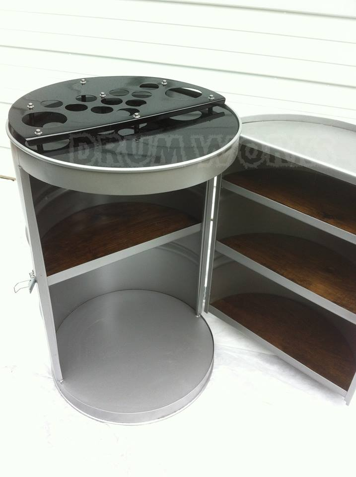55gallon steel drums repurposed into amazing furniture collection