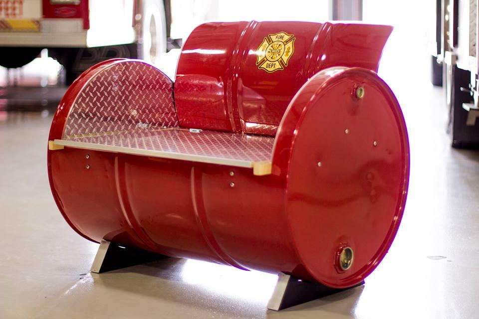 55 gallon Steel Drums Repurposed Into Amazing Furniture