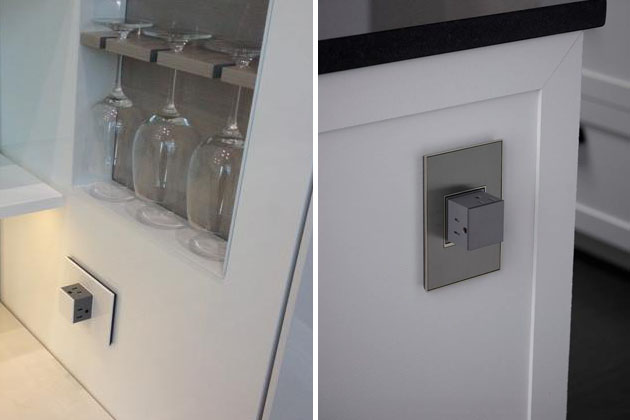Adorne Pop Out Electric Outlet Reveals Electric Socket
