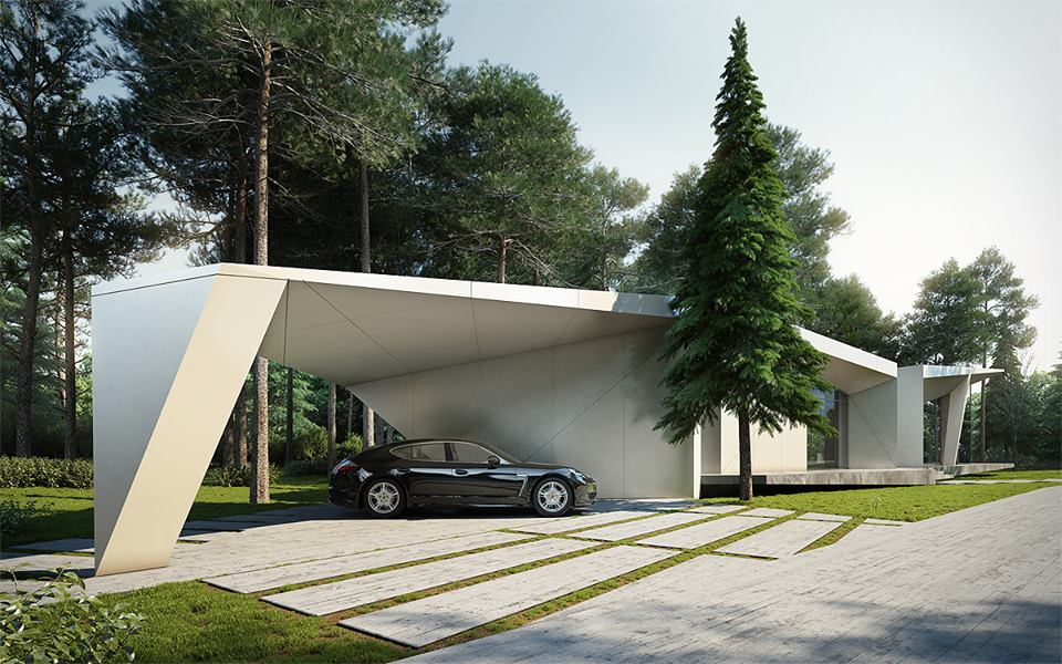 Atrium house by starh is beautiful home amidst natural for House plans with atrium in center