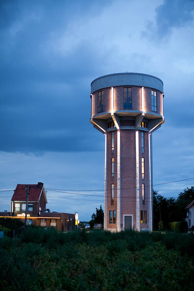 Belgian Businessman Converts 100ft Water Tower Into