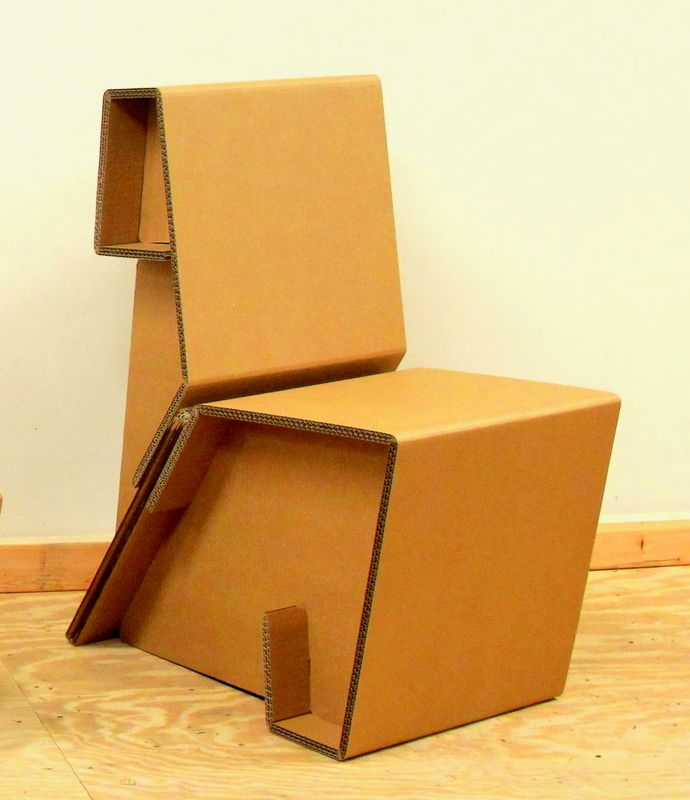 Chairigami Intros A Range Of Cardboard Furniture Items