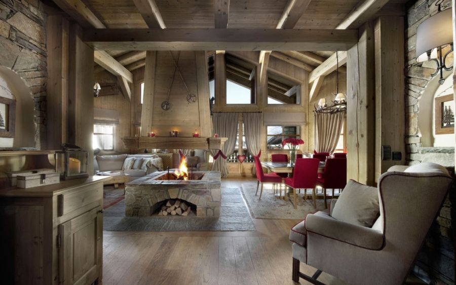 Chalet les sorbiers luxury ski chalet with alpine charm for Design skihotel