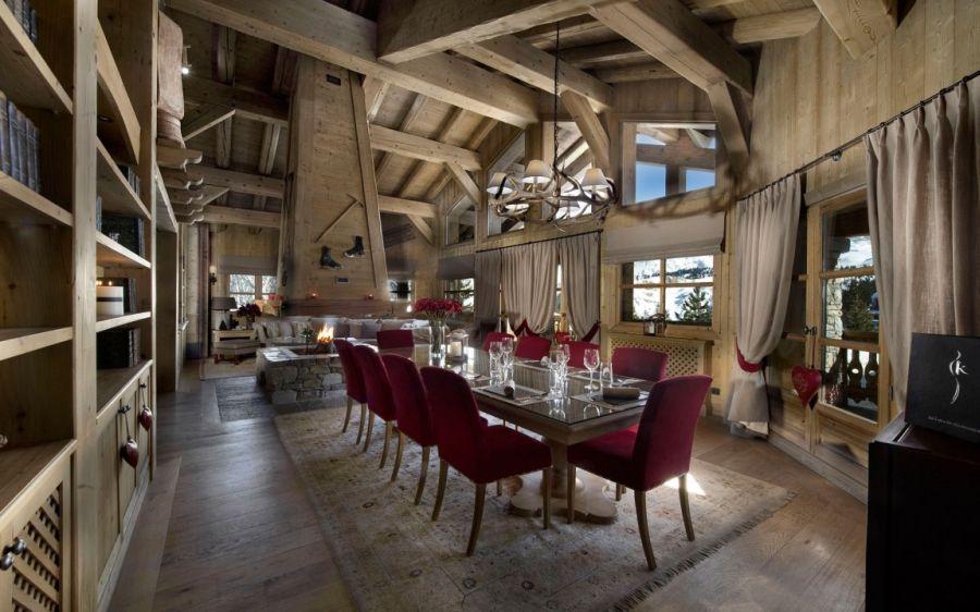 Chalet les sorbiers luxury ski chalet with alpine charm - Chalet de luxe courchevel les sorbiers ...