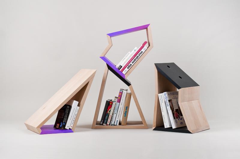 Chopped tree bookshelf symbolizes the second life of a for Tree of life bookshelf