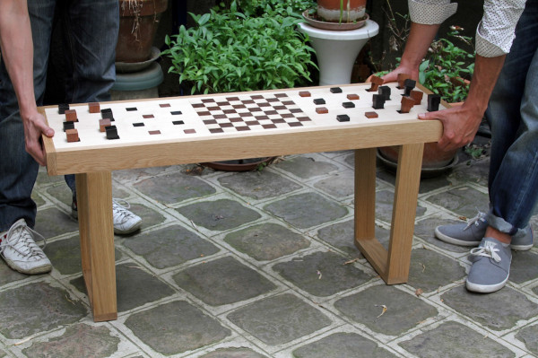 Congo Squares Bench Is A Chessboard Table That You Can Sit On