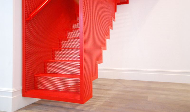 Diapo 39 S Steel Suspended Staircase Fuses Art Illusion And