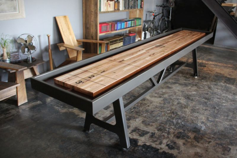 District Mfg Shuffleboard Fuses Industrial Look With