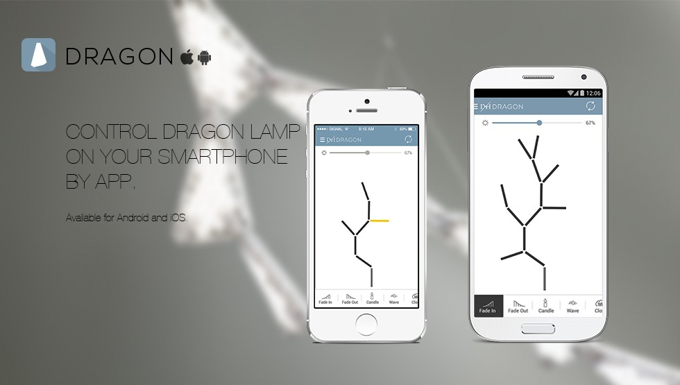 Smartphone Controlled Dragon Chandelier Changes Shape With