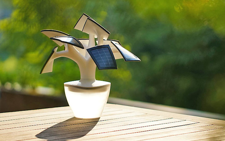 Electree Is Bonsai Tree Shaped Solar Powered Charger For
