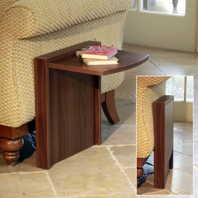 Sleek And Stylish Foldable End Table Is Perfect For Small