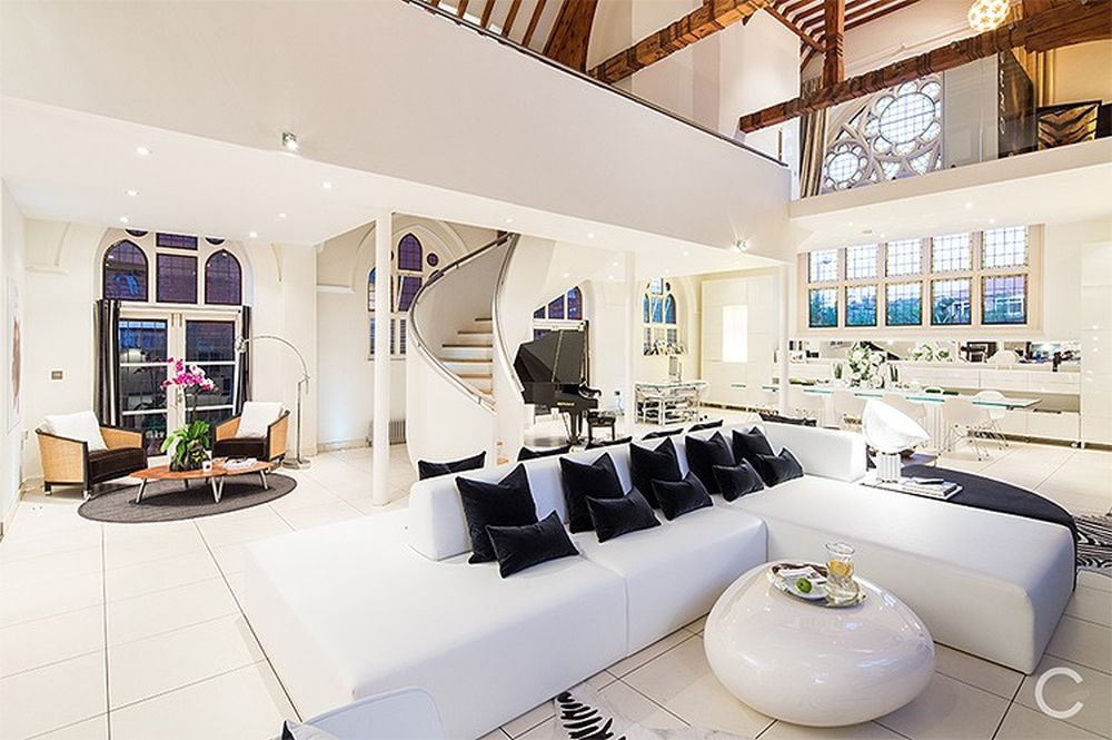 Church converted into luxury apartment with amazing  : Church Converted into Luxury Apartment by Gianna Camilotti Interiors2 from www.homecrux.com size 1000 x 665 jpeg 105kB