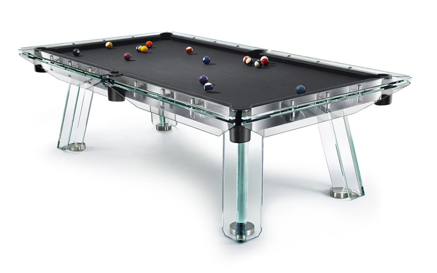 incredible billiards and ping pong tables made from glass