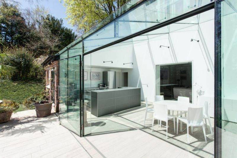 Backyard glass house