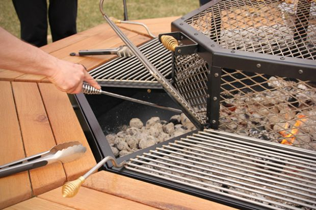 Every Guest Can Cook Their Own Steak On This Octagonal JAG Grill Table HomeCrux