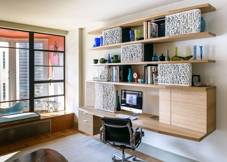 K G Home Office Desk With Printed Doors