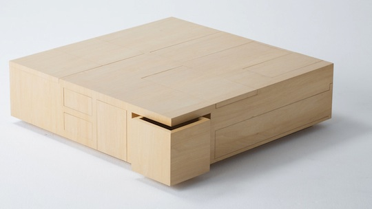 Kai Table Functions As A Coffee Table While Offering Built
