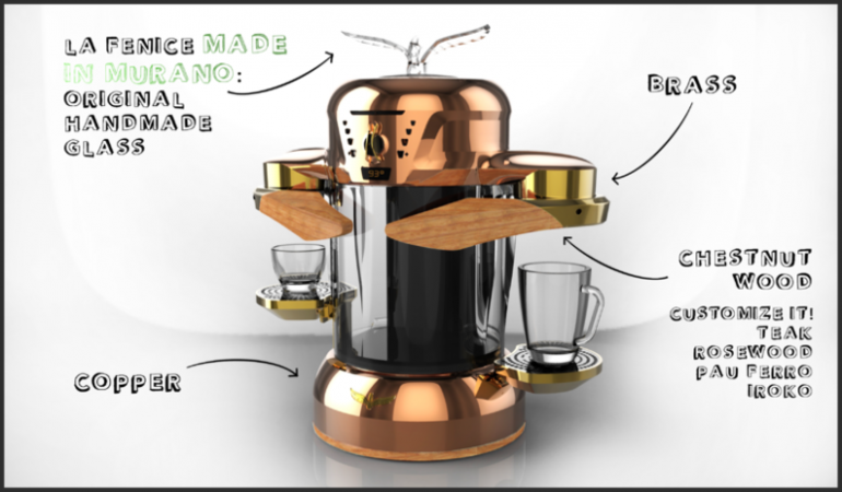 Italian Coffee Maker Induction : La Fenice uses electromagnetic induction heating to brew a perfect cup of coffee