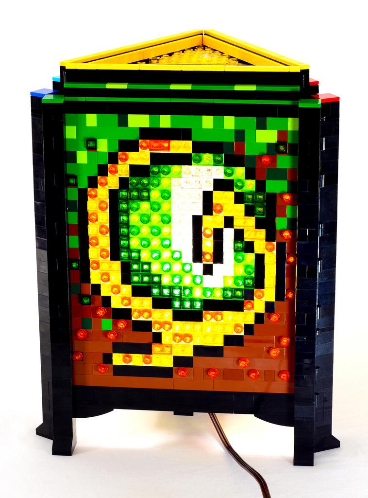 Mosaic LEGO Lamps By Baron Von Brunk