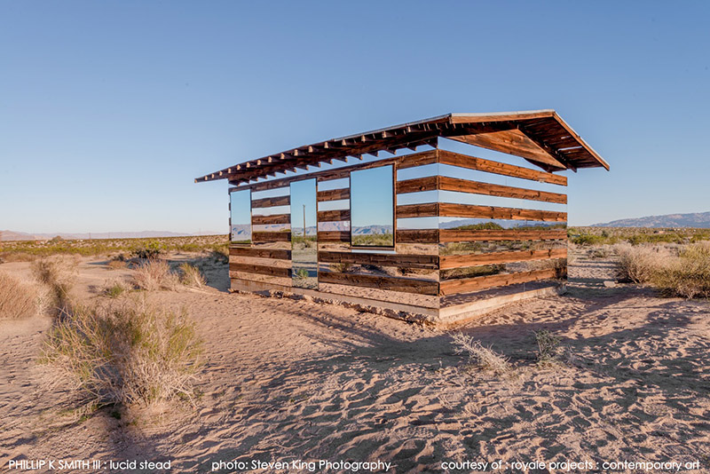 Lucid stead is a mirror house in middle of californian desert images