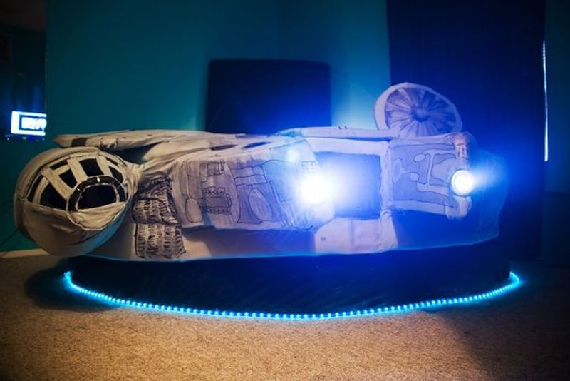 Millennium Falcon Bed Tickles Us With Its Geeky Force Home Crux