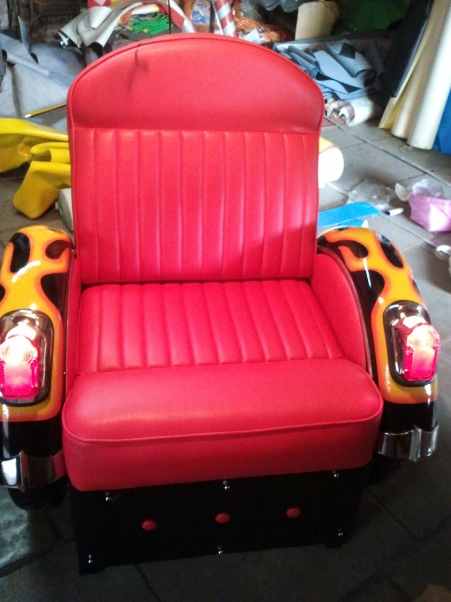 Spectacular Single Seat Motorcycle Themed Sofa Chair