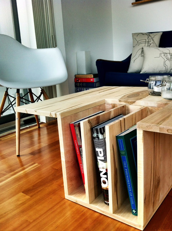 OneTwo Table With Builtin Book Storage HomeCrux - Coffee table with book storage