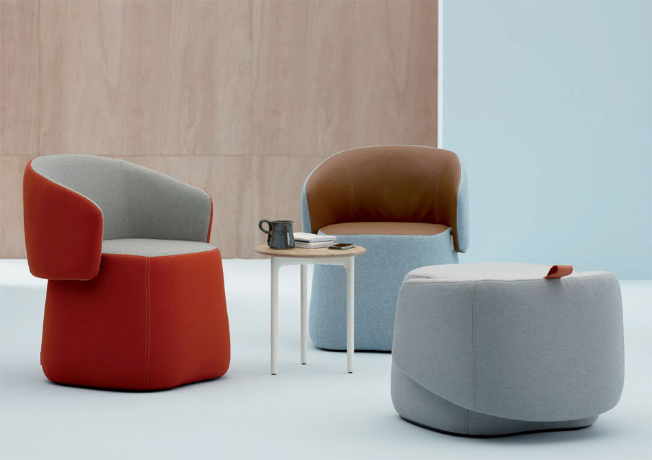 Category armchairs and lounge chairs - Patricia Uriquiola Designs Openest Office Furniture Line