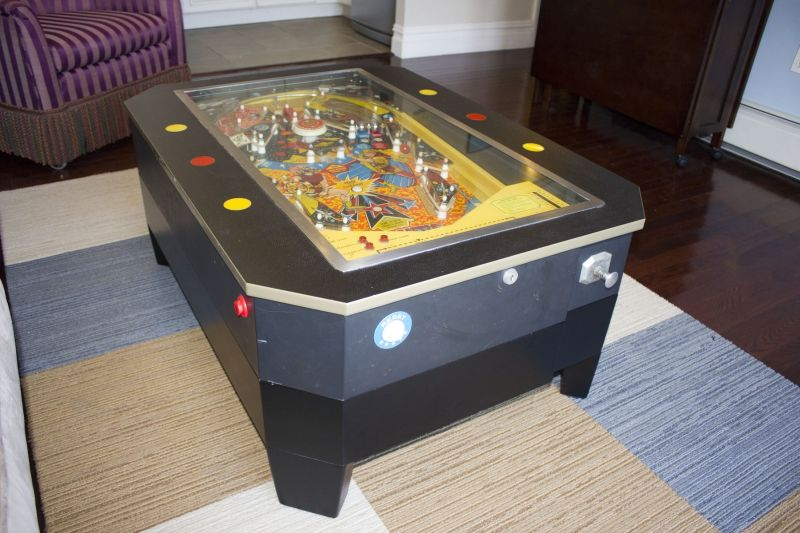 pinball machine coffee table
