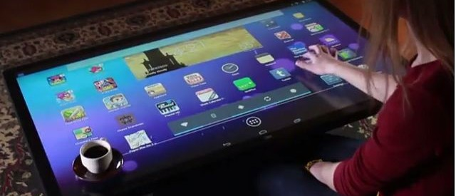Androidpowered Multitouch Coffee Table Is One Giant Tablet For Your - Android coffee table