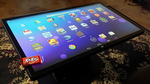 android-powered multitouch coffee table is one giant tablet for