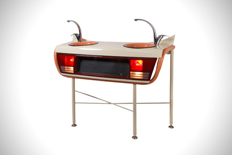 Ronen tinman 39 s furniture collection made from real car parts Custom furniture made car parts