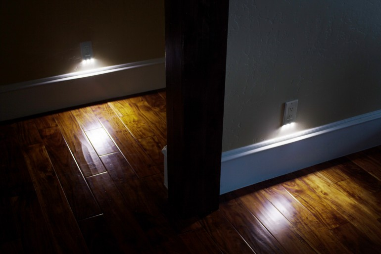 SnapRays Guidelight is a light that becomes part of the outlet