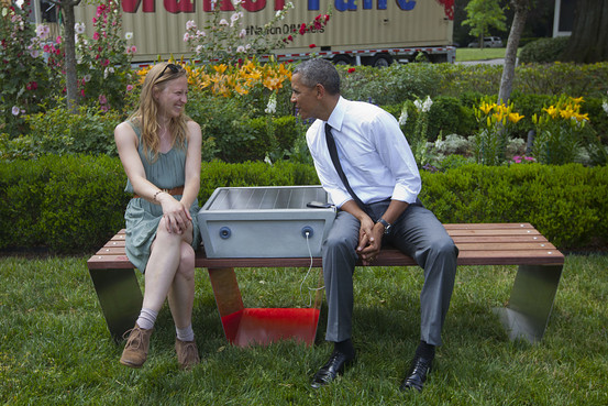 Soofa Park Bench Is A Green Installation That Uses Solar