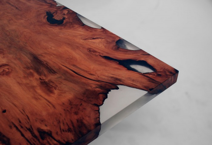 This dining table is carved from 4000 year old redwood burl : square cut burl table by stacklab 3 from www.homecrux.com size 700 x 481 jpeg 51kB