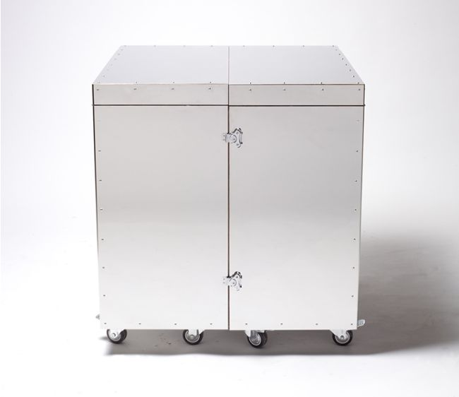 Elegant Stainless Steel Crates By Naihan Li