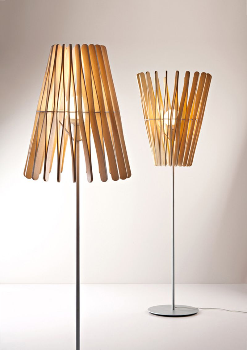 39stick lamp39 line by matali crasset fuses light and shadow With wood stick floor lamp