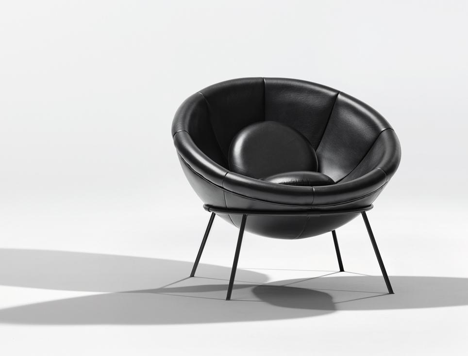 Multi functional bowl chair by lina bo bardi for Lina bo bardi bowl