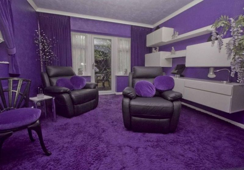 Uxbridge road house with jarring purple interior will cost for Normal home interior design