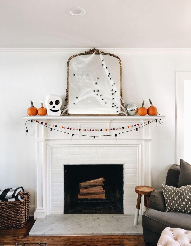Be creative to decorate fireplace mantel