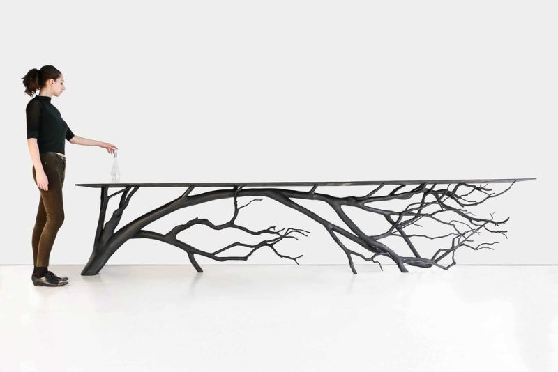 Famous Bilbao Console is Sebastian Errazuriz's latest tree branch table BH21