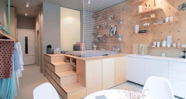 Budapest 30sqm apartment by Position Collective