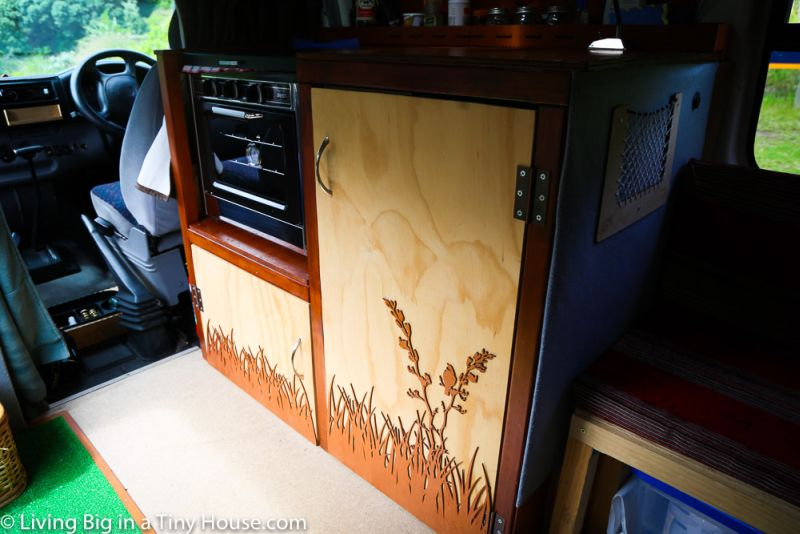 Cozy home on wheels by Czech couple from an old Ford ambulance