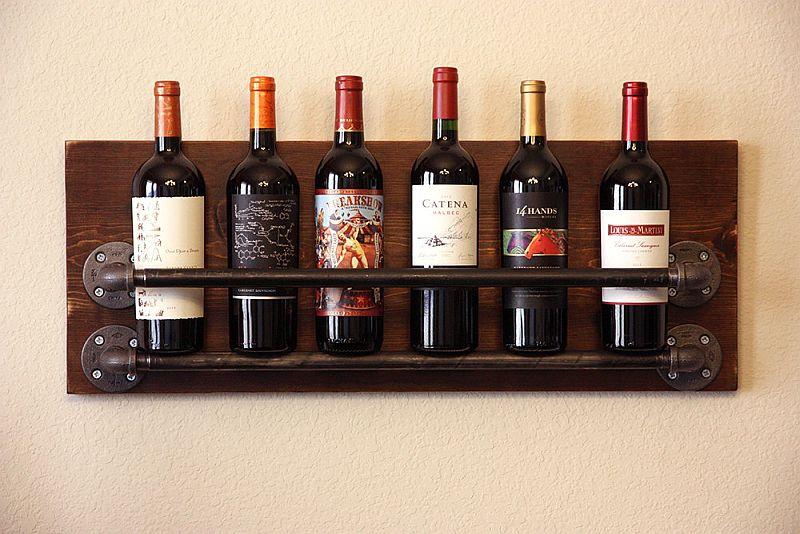 diy-pipe-wood-wine-rack