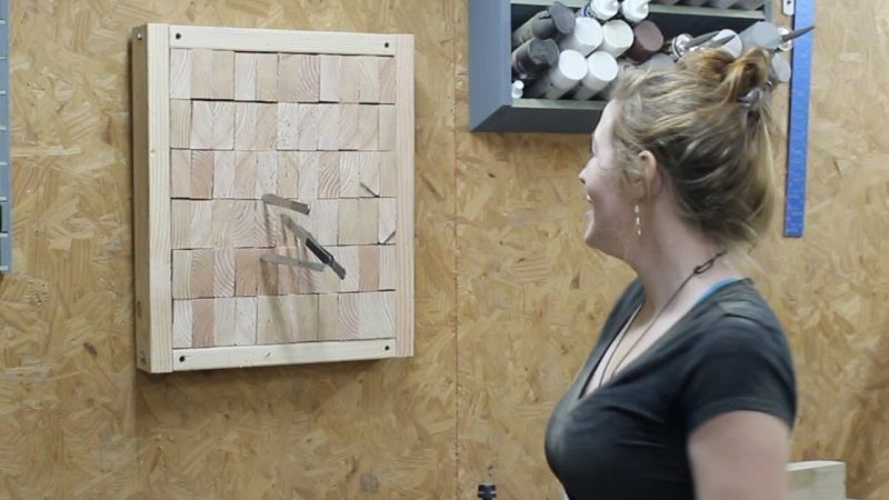 Diy End Grain Knife Throwing Target To Master The Skill