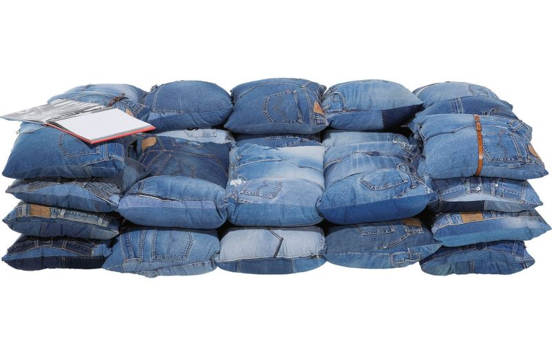 Kare Design S Denim Sofa Is Entirely Made Of Recycled Cushions