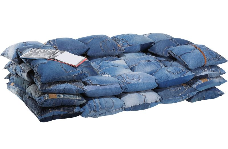 Kare Design's denim sofa is entirely made of recycled cushions