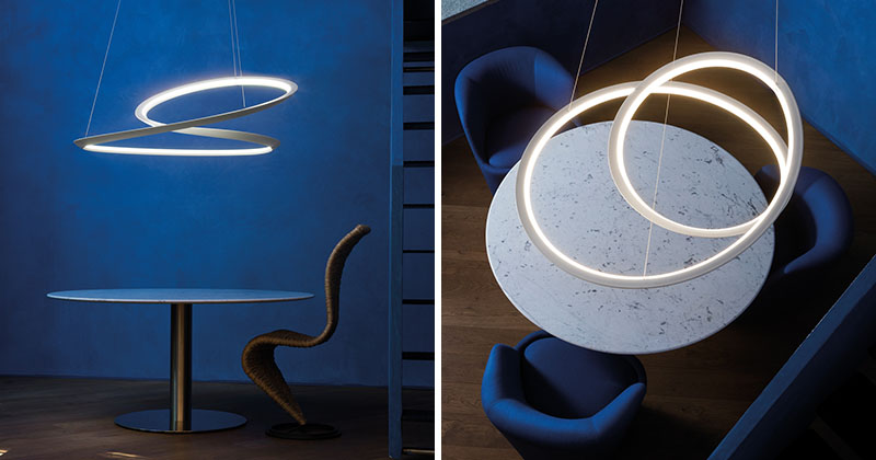 Fun and stylish Mobius Strip-inspired lamp by Arihiro Miyake