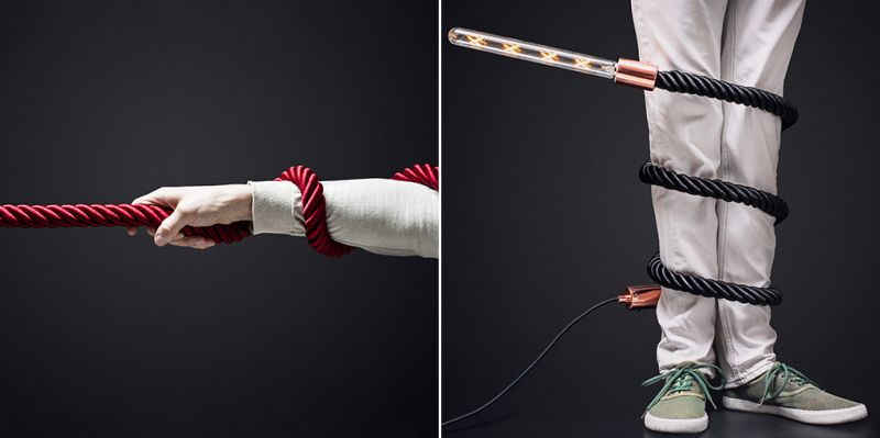 Flexible lamp that can be twisted in different shapes